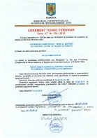 Agrement tehnic feroviar seria AT nr. 334 / 2015