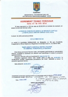 Agrement tehnic feroviar seria AT nr. 516 / 2014