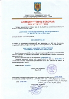 Agrement tehnic feroviar seria AT nr. 517 / 2014
