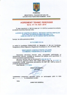 Agrement tehnic feroviar seria AT nr. 820 / 2015