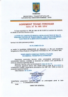 Agrement tehnic feroviar seria AT nr. 996 / 2016