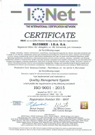 Certificat RO0097 - ISO 9001 : 2015 IQNET – Quality Management System